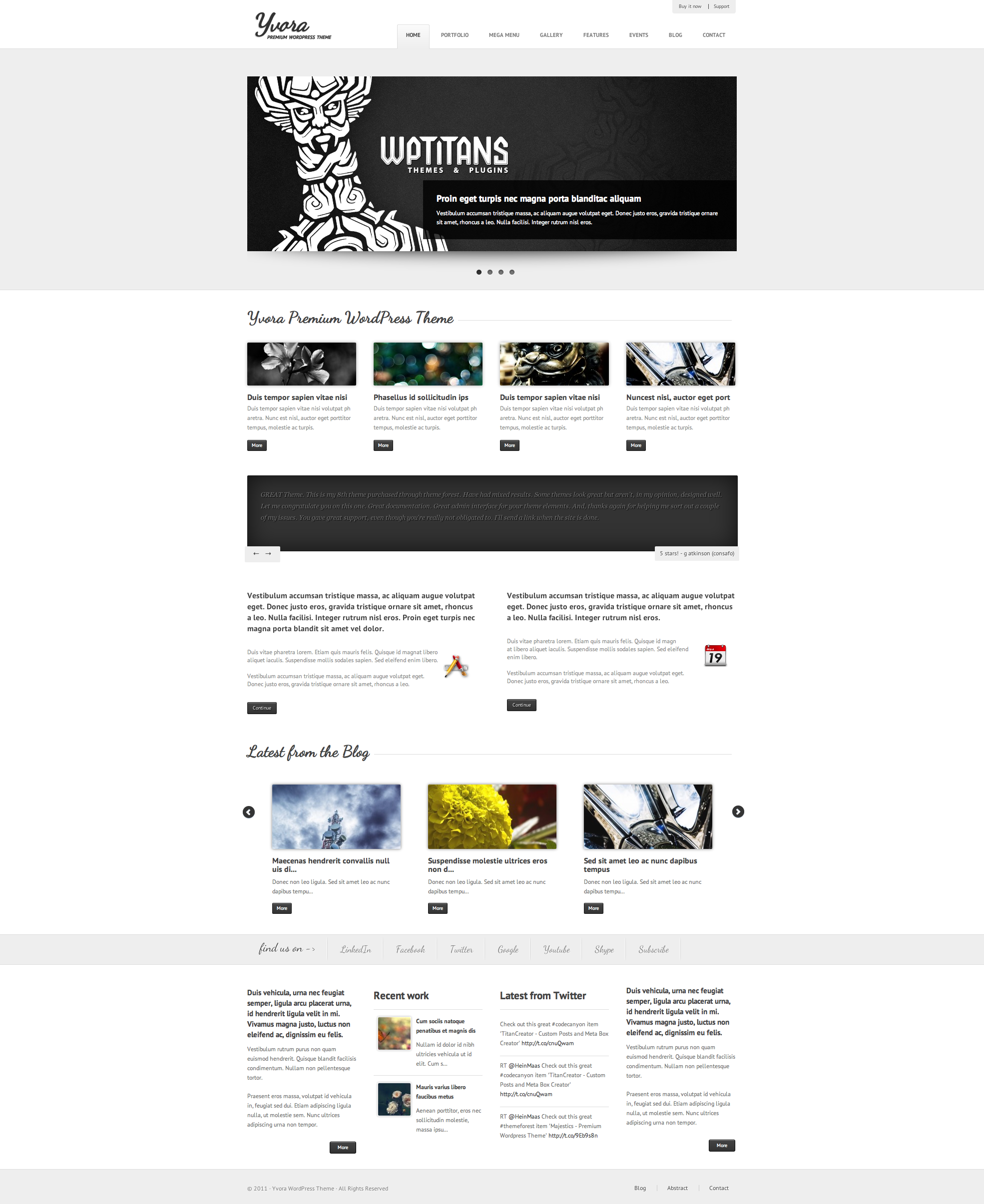 Yvora - Premium WordPress Theme