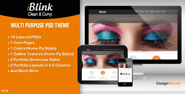 iBlink - Multi Purpose PSD Template