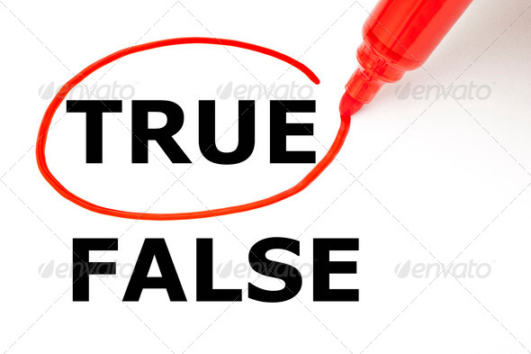 True or False with Red Marker - Stock Photo - Images