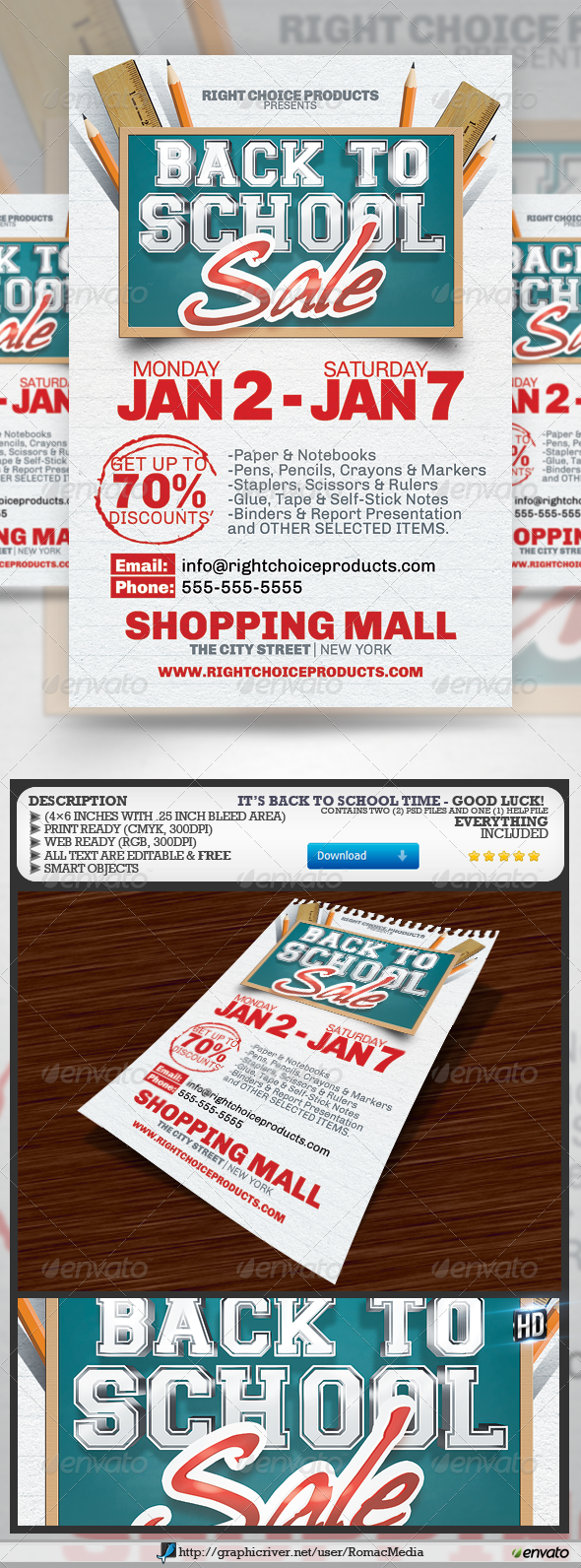 GraphicRiver Shopping Week Flyer 2582613