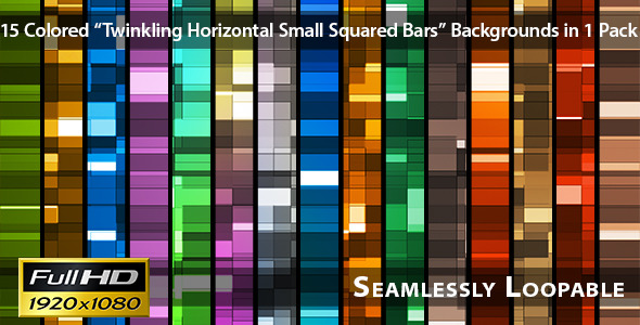 Twinkling Horizontal Small Squared Bars Pack 03 VideoHive Motion Graphic Backgrounds  Light 3728882