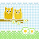 Romantic Background With Owls - GraphicRiver Item for Sale
