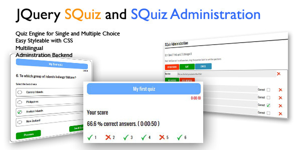 CodeCanyon JQuery Ajax SQuiz Quiz Engine 3729789