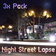 Night Street Lapse Pack - VideoHive Item for Sale
