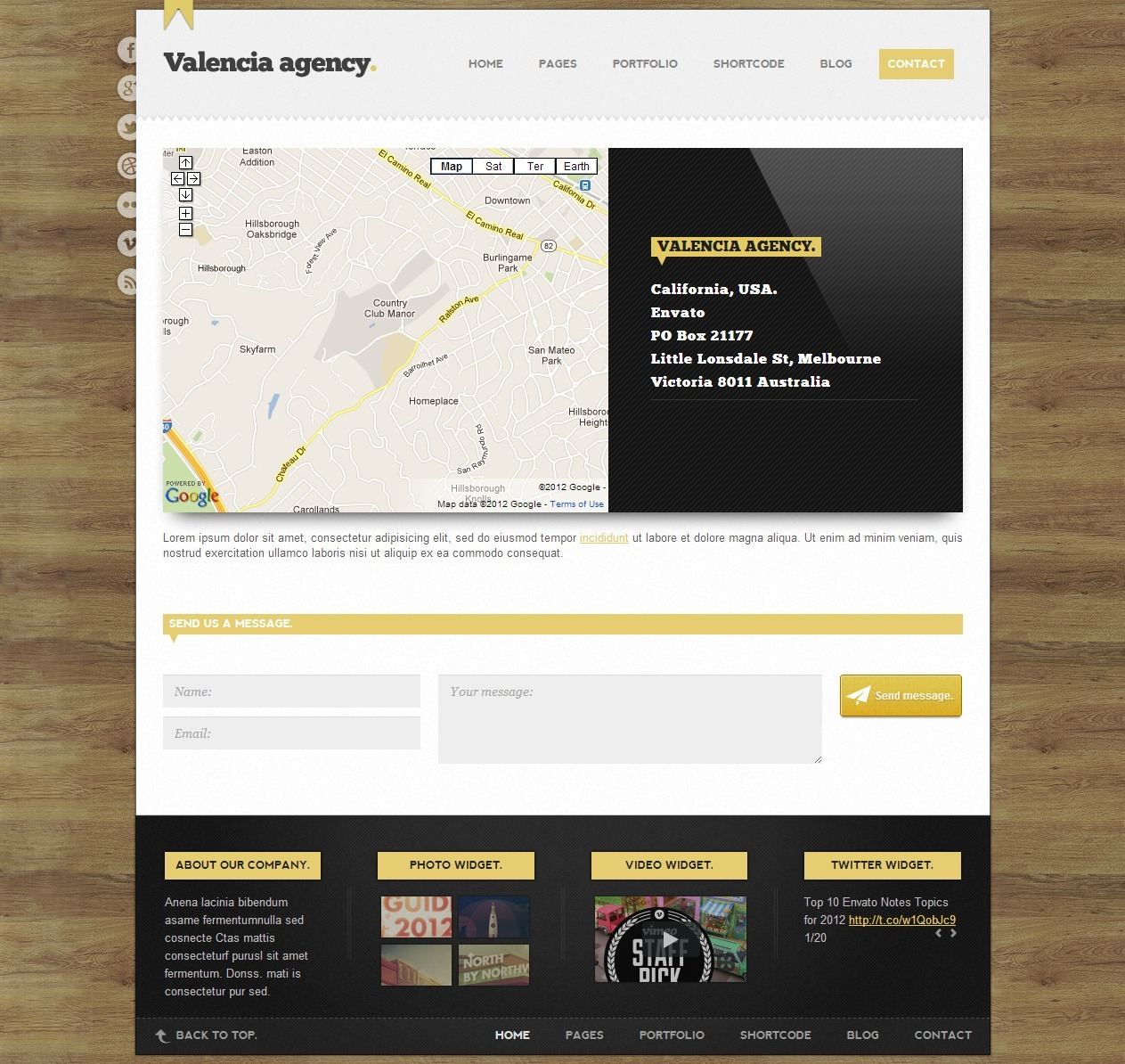 Valencia | HTML Template