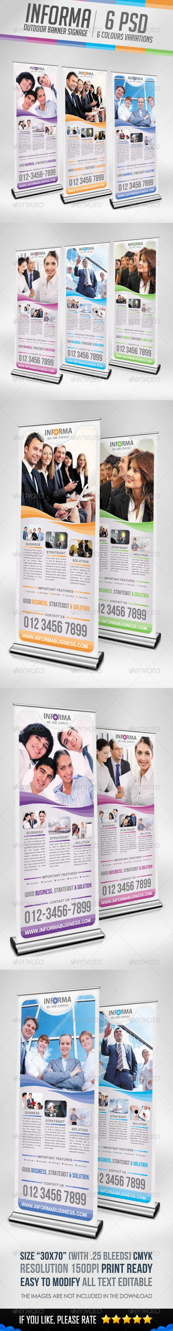 GraphicRiver Informa Outdoor Banner Signage 3730861