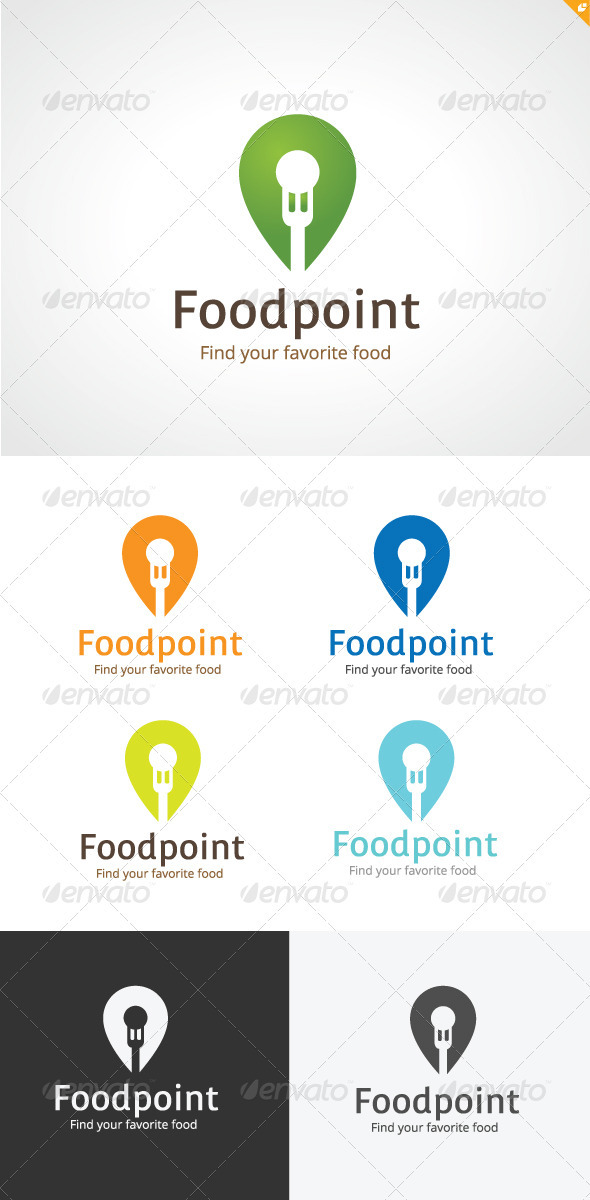 GraphicRiver Foodpoint Logo 3685980