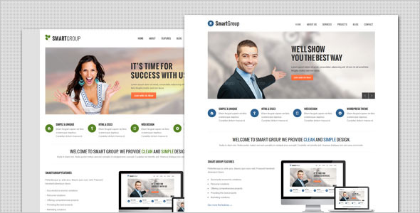 SmartGroup - Clean Marketing WordPress Theme