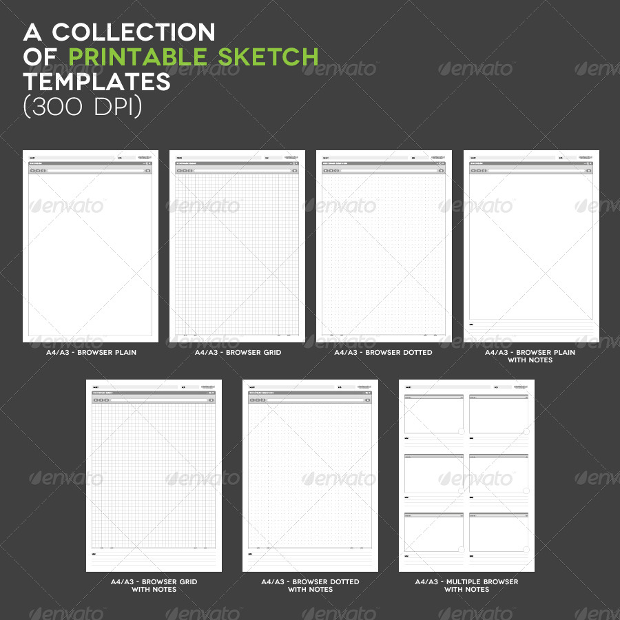 Printable Sketch Templates