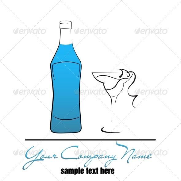 GraphicRiver Bottle And Wineglass 3731635