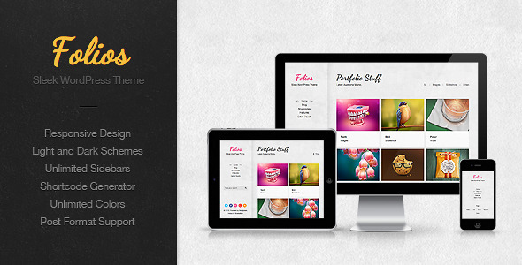 ThemeForest Folios Responsive WordPress Theme 3731851