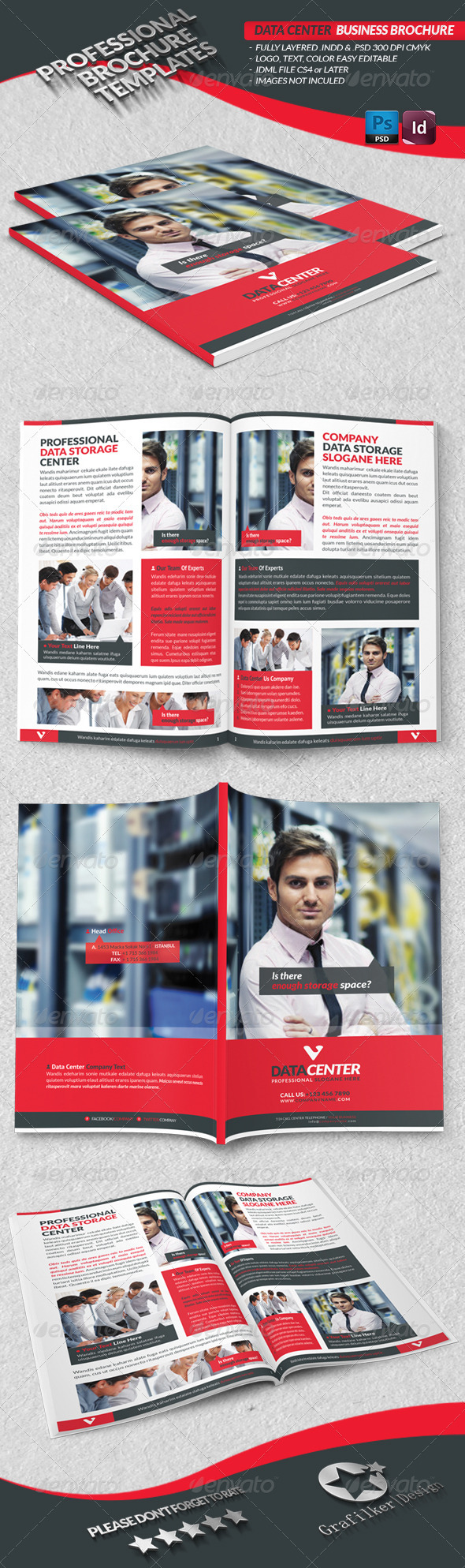 GraphicRiver Data Center Business Brochure 3685667