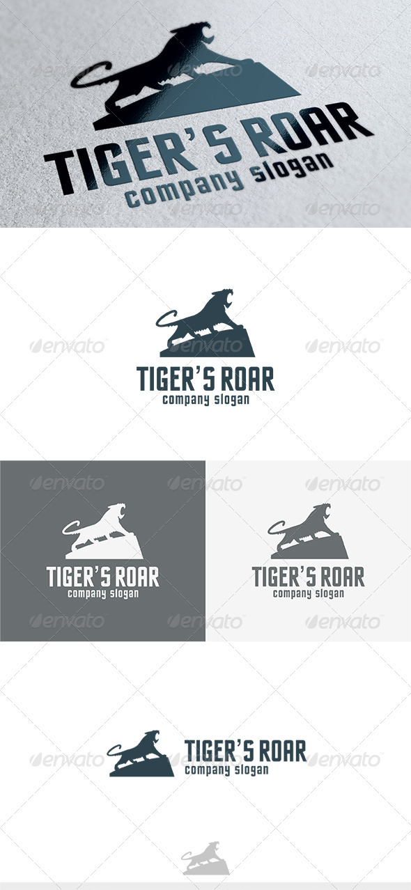GraphicRiver Tigers Roar Logo 3683359