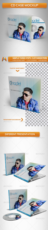 GraphicRiver CD Case Mockup 3732241