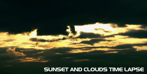 Sunset And Clouds Time Lapse VideoHive Stock Footage  Time Lapse 3732300