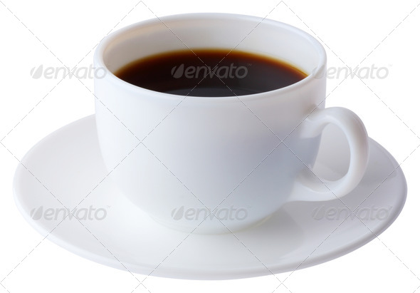 PhotoDune Coffee cup and plate with clipping path 3732441