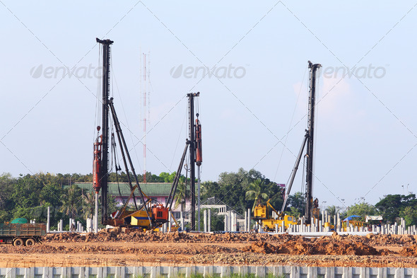 PhotoDune Construction piling 3732453