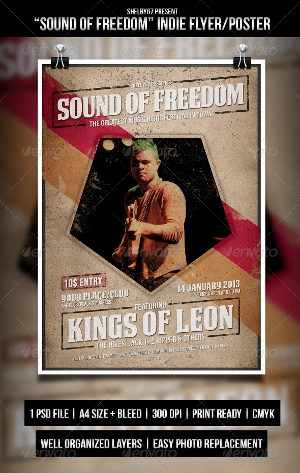 Indie flyer / Poster - Sound of Freedom - Events Flyers