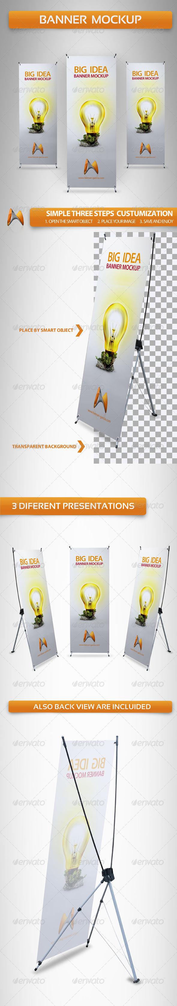 GraphicRiver X-Banner Mockup 3732915