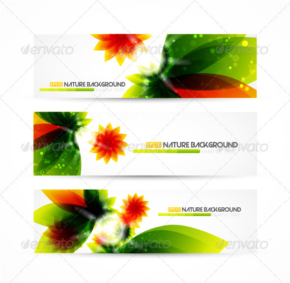 Nature banners - Web Technology