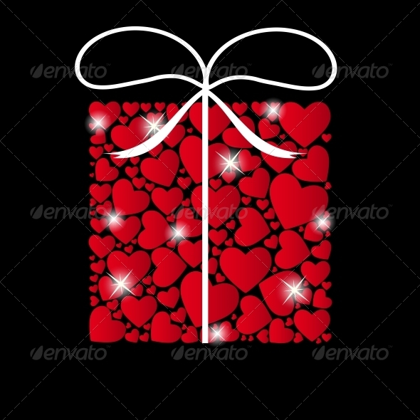 GraphicRiver Valentines Day Heart Background Vector 3734611