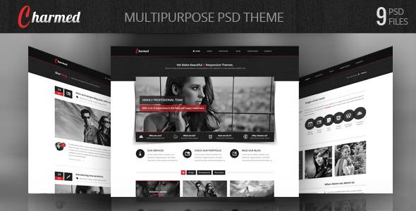 ThemeForest Charmed Multipurpose PSD Theme 3730694