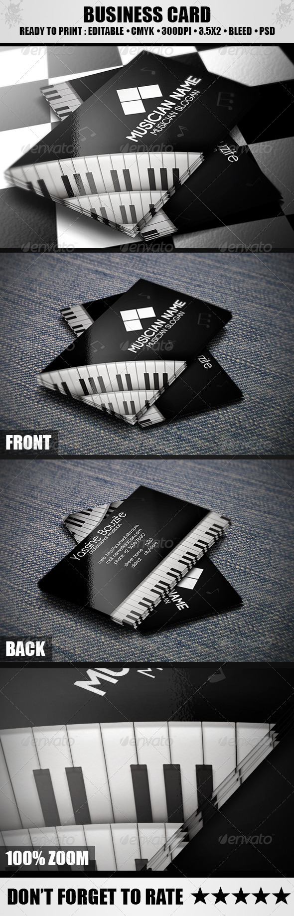 GraphicRiver Musician Business Card 3736092