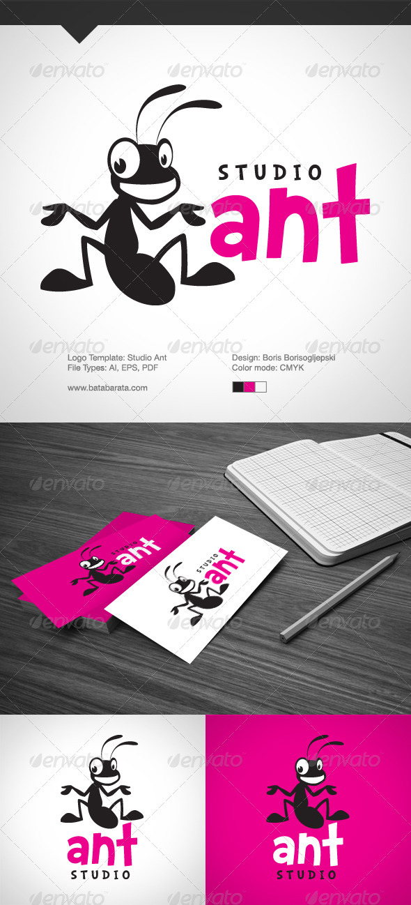 Studio Ant Logo - Animals Logo Templates