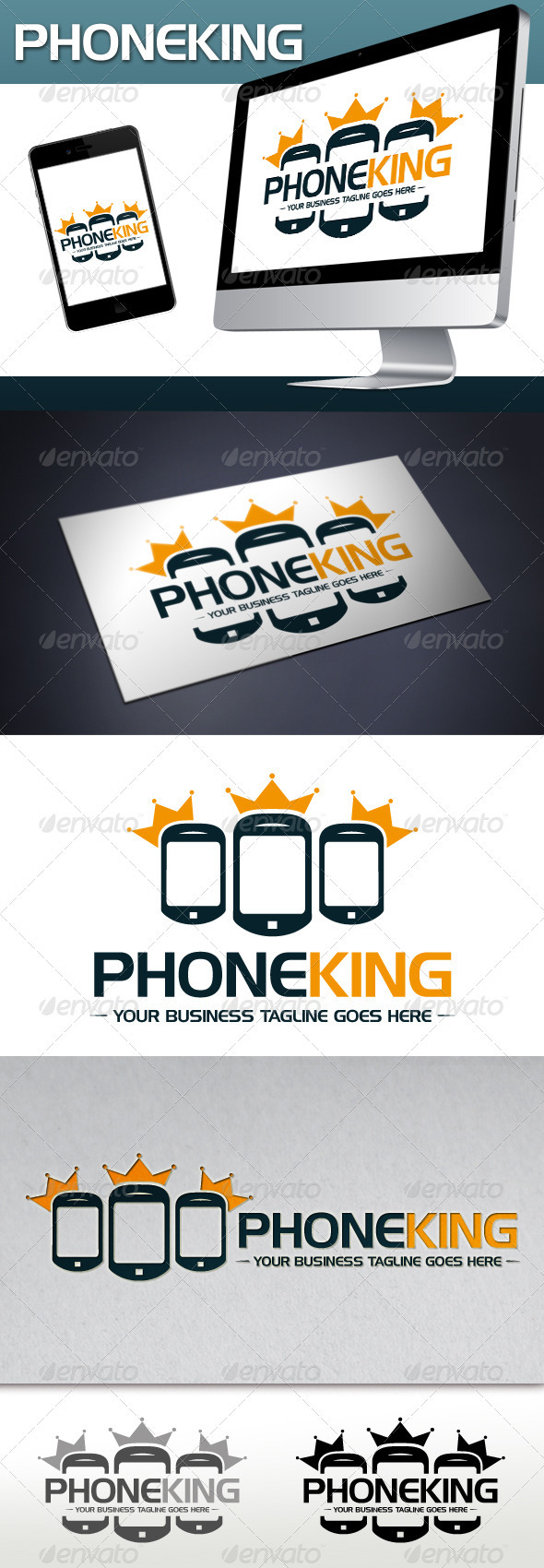 GraphicRiver Phone King Logo Template 3689771
