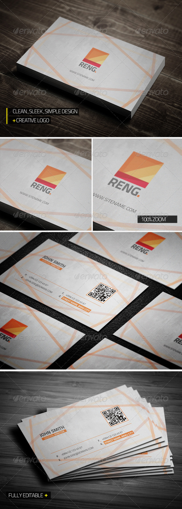 GraphicRiver Reng Creative Business Card 3736998