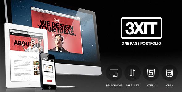 ThemeForest Exit parallax single page portfolio 3650130