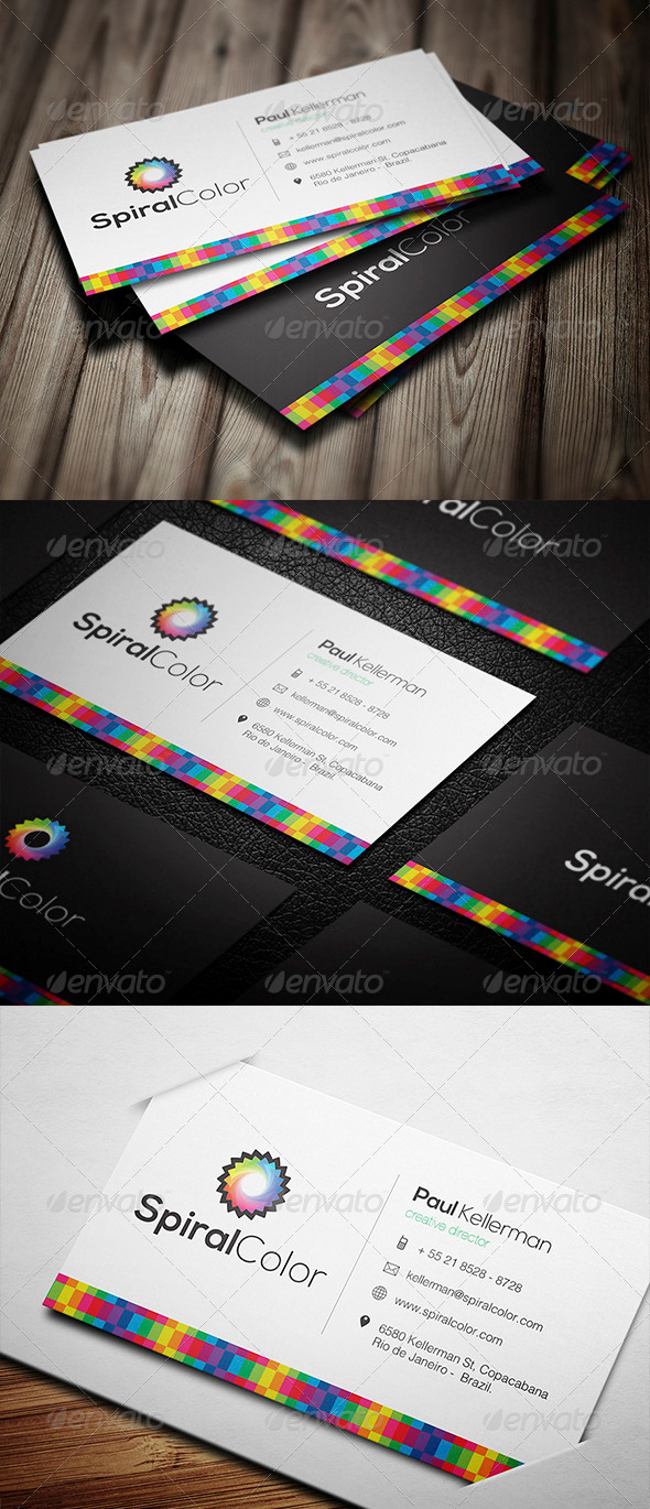 GraphicRiver Creative Colourful Business Card 3737040