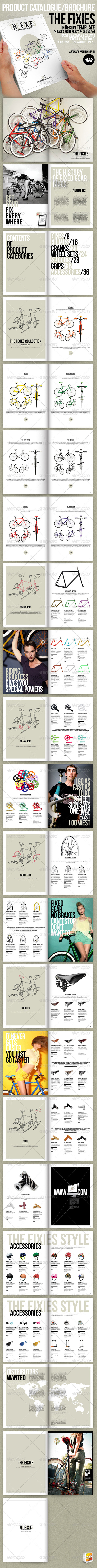 The Fixies-Product Catalogue InDesign template - Catalogs Brochures