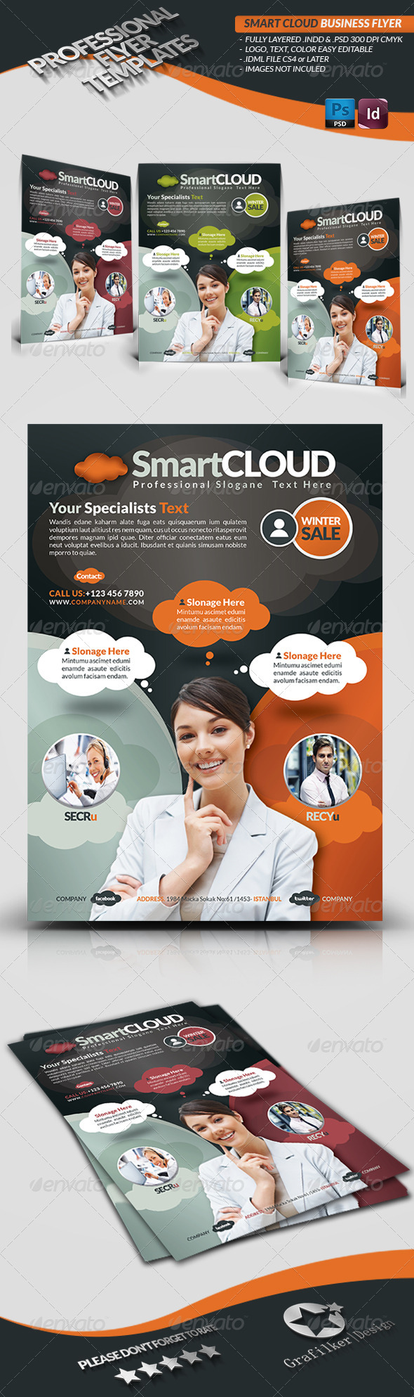 GraphicRiver Smart Cloud Business Flyer 3737082