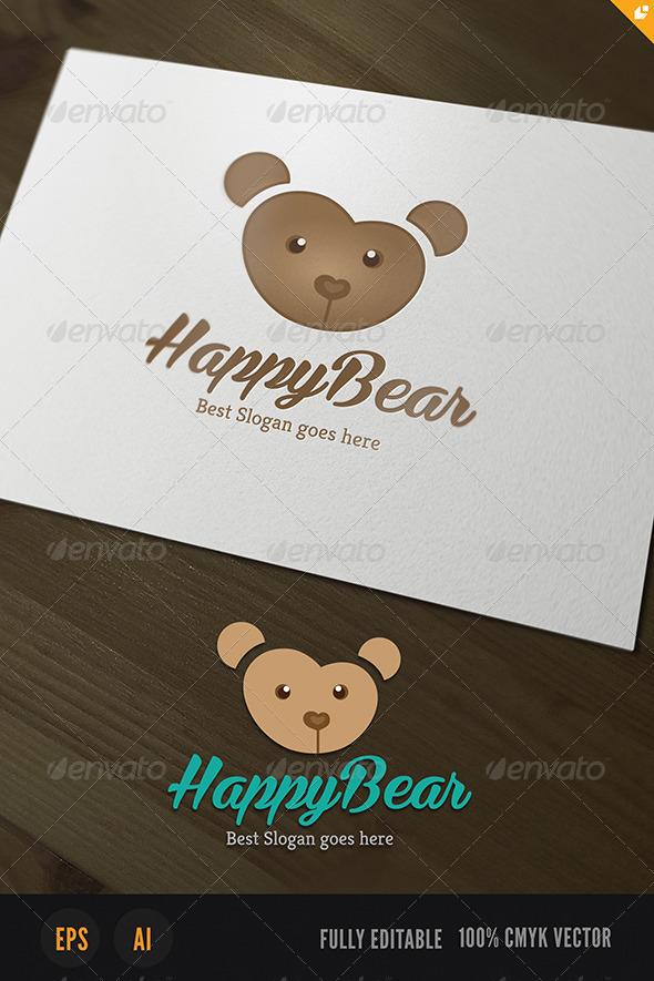 GraphicRiver Happy Bear Logo 3688798