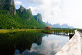 Bridge on the lake in national park, Sam Roi Yod National Park, - PhotoDune Item for Sale