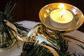 Gold Bell And Votive Candle - PhotoDune Item for Sale