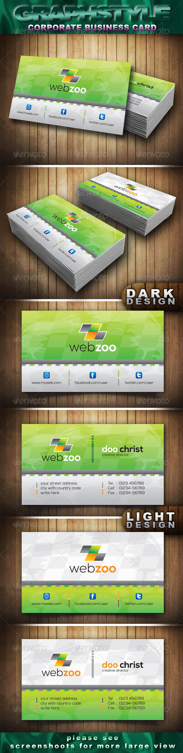 GraphicRiver Webzoo Corporate Business Card 3737480