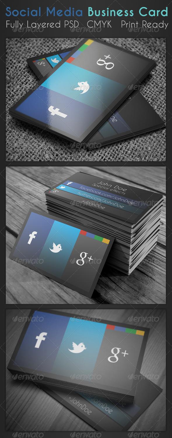 GraphicRiver Social Media Business Card 3737596