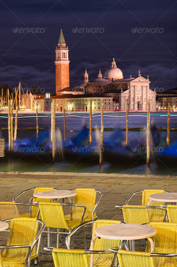 Venice at night - Stock Photo - Images