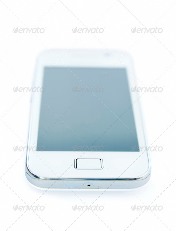 white smartphone - Stock Photo - Images