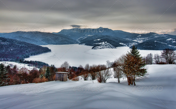 winter rural landscape  - Stock Photo - Images