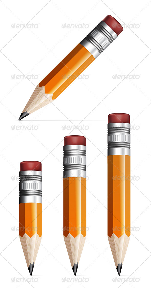 GraphicRiver Pencil On A White Background 3738127