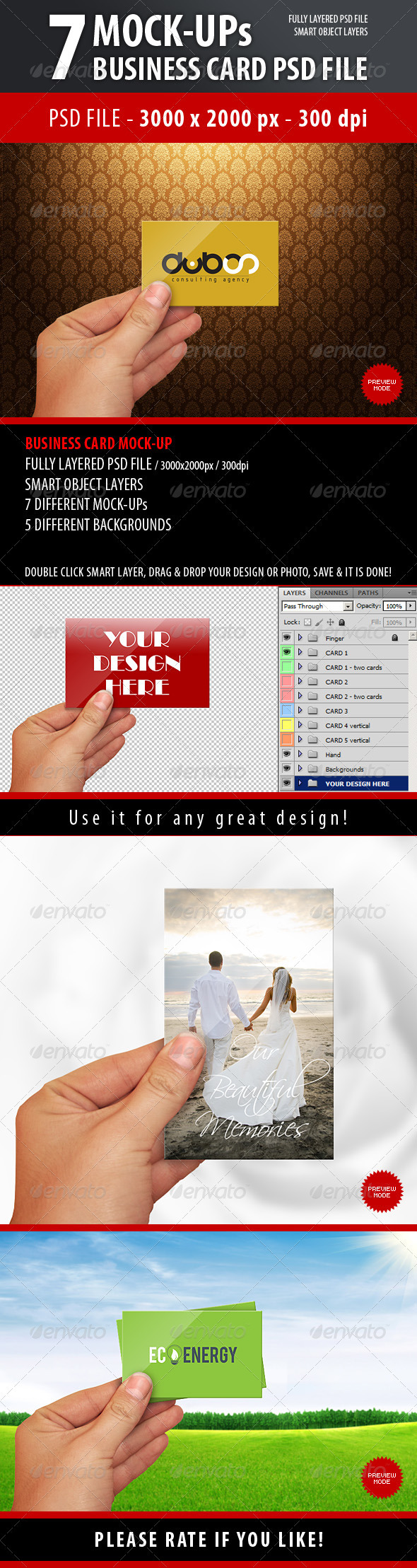 GraphicRiver Business Card Mock-Up 3719705