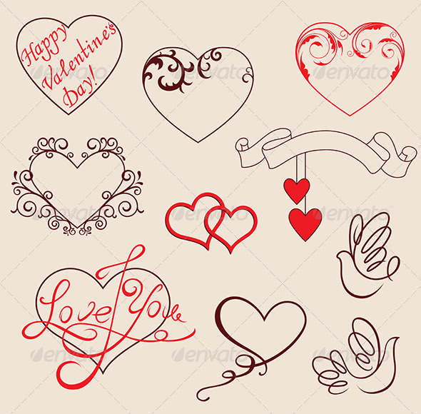 Valentine s design elements