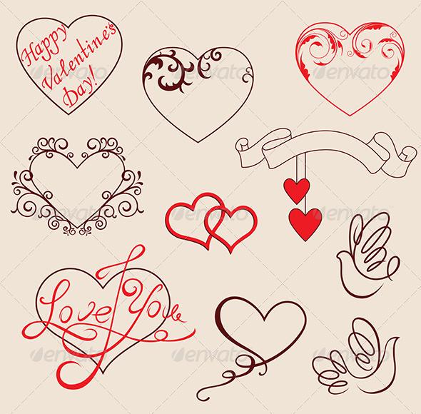 GraphicRiver Valentine s design elements 3738370
