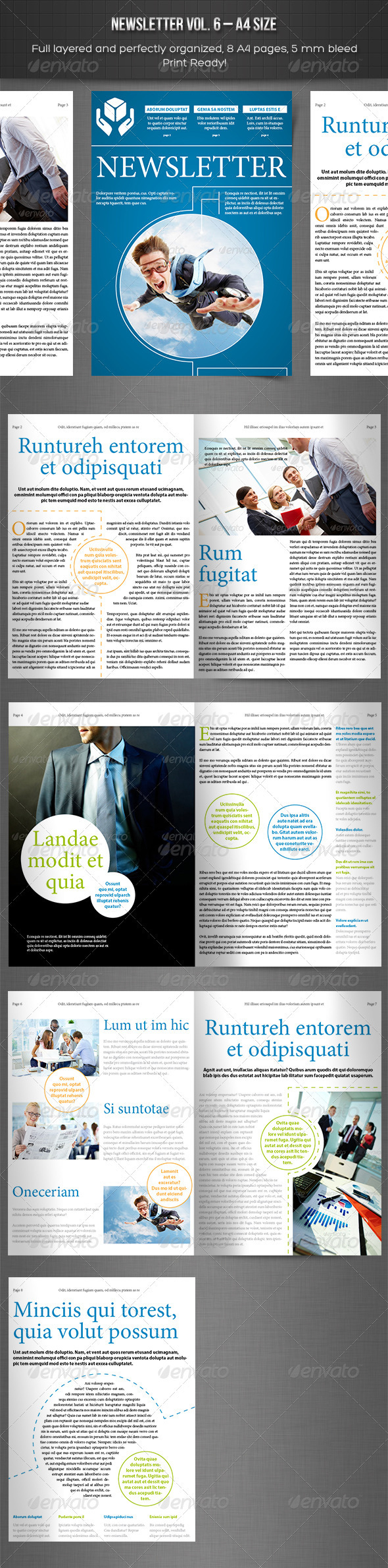 GraphicRiver Newsletter vol 6 Indesign Template 3738386