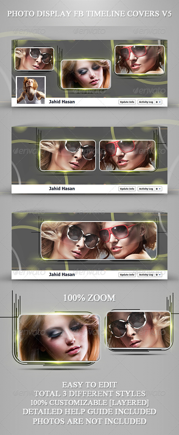 GraphicRiver Photo Display FB Timeline Covers V5 3738423
