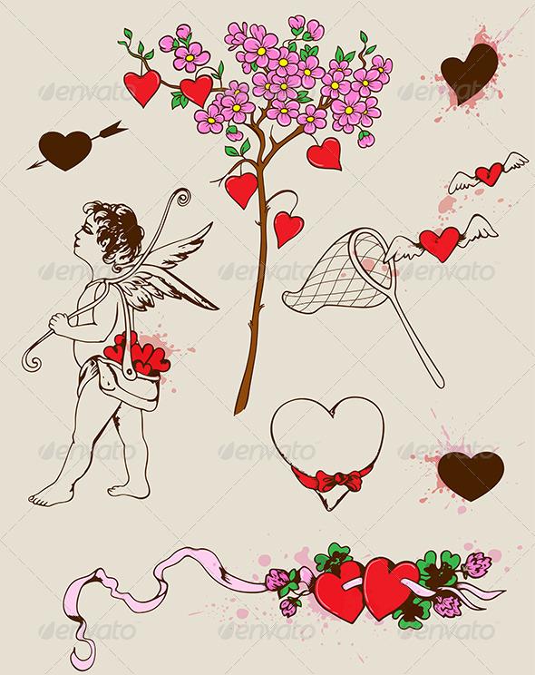 GraphicRiver Valentine s Design Elements 3738564