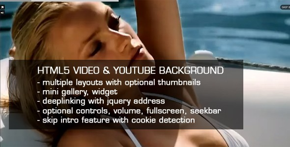 HTML5 Video & Youtube background